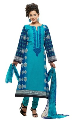Triveni Adorable Blue Indian Ethnic Salwar Kameez TSXKRSK1211