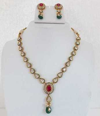 Fancy Round Multi Necklace Set