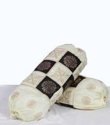 Buy black & white bolster pair set pillow-cover online