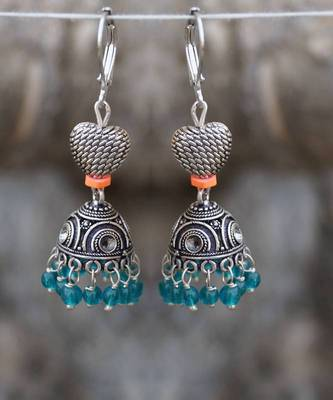 JHUMKA REDEFINED- sexy neon blue heart