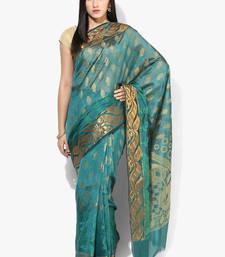Buy green woven cotton silk saree With Blouse cotton-silk-saree online