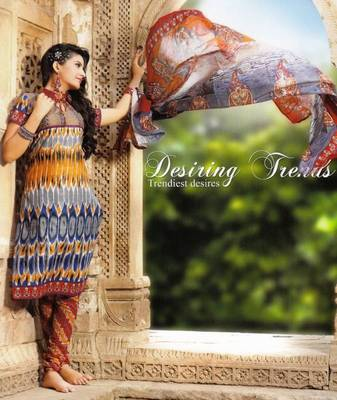Fabulous Multi Color Printed Cotton Dress Material D.No PB11012