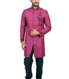 Buy multicolor brocade resham handwork Jodhpuri Sherwani gifts-for-brother online