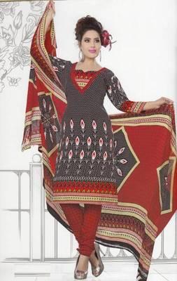 Dress Material Crepe Unstitched Elegant Salwar Kameez Suit D.No 7401