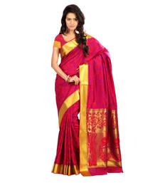 Buy red hand woven kanchipuram silk saree With Blouse kanchipuram-silk-saree online