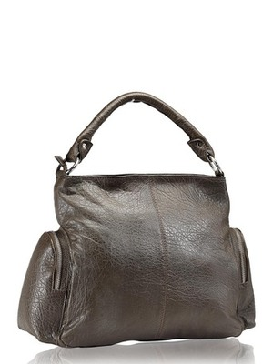 "Phive Rivers-Beria, Genuine Leather Women Handbag with colour : ""Dark Grey"""