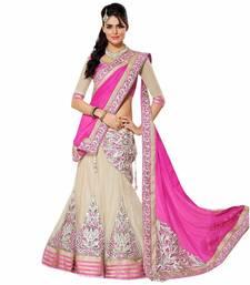 Buy Heavy Pink Net Lehengha blouse lehenga-below-1000 online