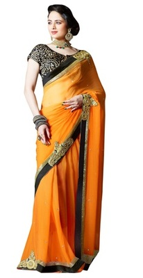 Triveni Stupendous Indian Traditional Wedding Wear Faux Georgette Ethnic Saree