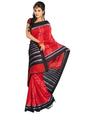 Triveni Stylish Sober Wear Indian Traditional Printed Art Silk Red Saree