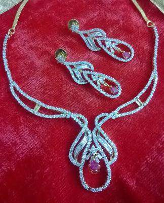 stylish ruby neckline