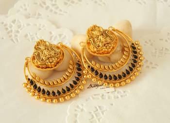 Ram leela earrings stone jhumka tops ethnic traditional handmade indian