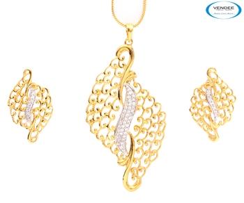 Latest fashion CZ diamond Pendant jewelry.
