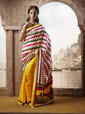 printed bhagalpuri silk saree with blouse
