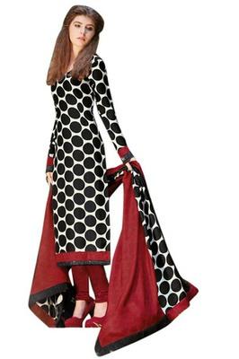 Triveni Fashionable Polka Dots Printed Salwar Salwar Kameez TSFLSK6381a