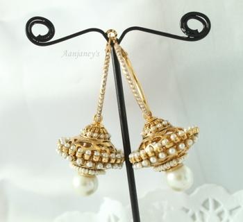 Traditional earrings jhumkas hoops danglers drops stone pearl designer indian handmade