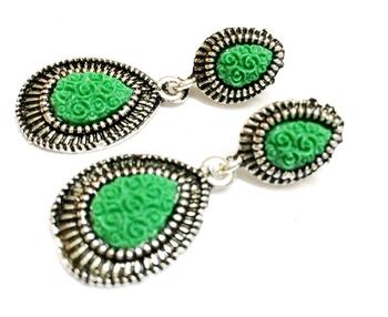 Green Oxodise Earrings