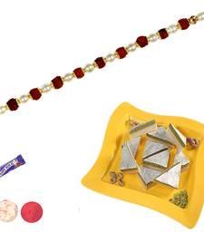 Buy Dryfruit sandwich katali sweets with rakhi rakhi-with-sweet online