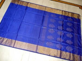 MUGHDHA - ROYAL BLUE PURE SILK SAREE