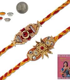 Buy Ethnic designer handmade thread rakhi pair gift thread-rakhi online