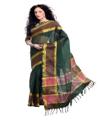 Dealtz Fashion Multicolor Cotton  Saree