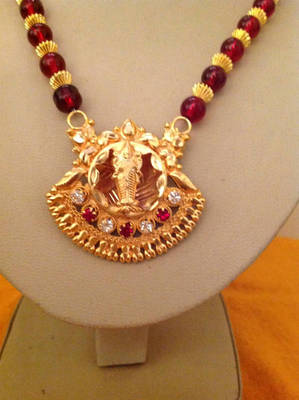 Beautiful Red and Gold Combo Designer Necklace