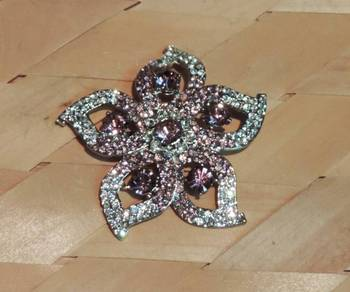 Light Purple and Silver Star Brooch