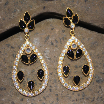 Opulent american diamond earring