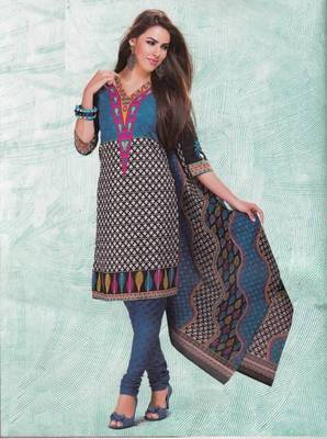 Dress material cotton designer prints unstitched salwar kameez suit d.no 4402