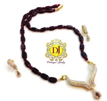 Ad mauve Necklace set