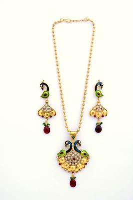 Peacock Necklace Set 4