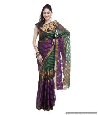 Banarasi Handloom Kora Aara Carry Silk Saree