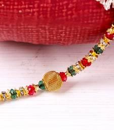 Buy Colorful beads rakhi thread thread-rakhi online