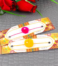 Buy Two gonda rakhis send-rakhi-to-indium online