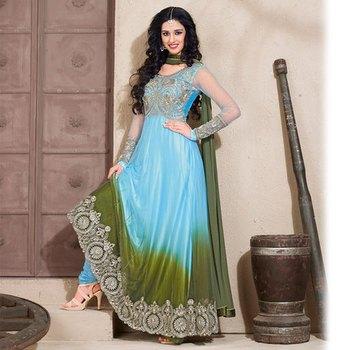 Blue Anarkali Salwar Kameez Suit