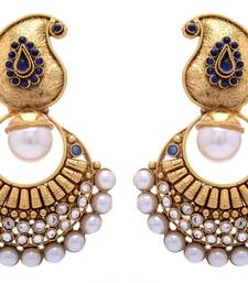 Buy ANTIQUE GOLDEN PURPLE N WHITE PEARLS HANGINGS Other online