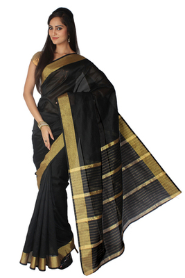 Pavecha's Banarasi Black Patta Jari Saree - MK756