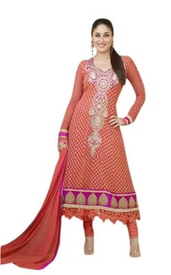 Triveni Kareena Kapoor's Magificent Emboidered Faux Georgette Salwar Kameez TSVNSK9334