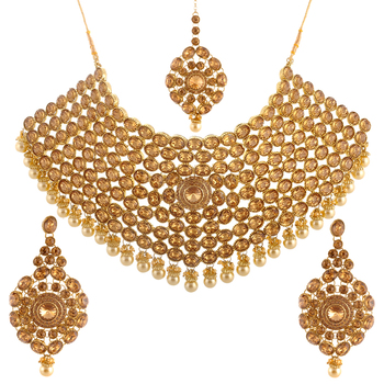Heavy Choker Maharani Necklace Set