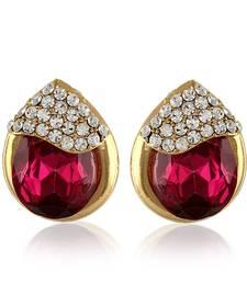 Buy Pink Austrian Stone Studs Party Wear Gold Finishing Tops danglers-drop online