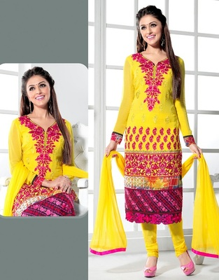 semi stitched salwar kameez with duppatta