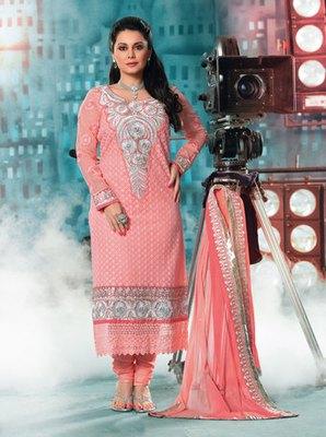 Hypnotex Pink Georgette Anarkali Salwar Kameez Aayu 1702