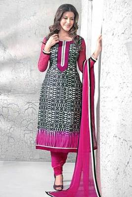 Black Cotton Printed Salwar Kameez