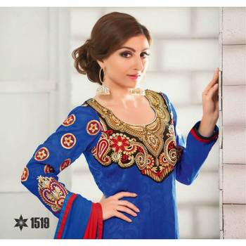 Soha Ali Khan Divine Blue Salwar Kameez - TBSURIV1519