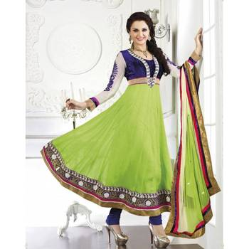 Parrot Green Suit with Dupatta - TBKRMA2021