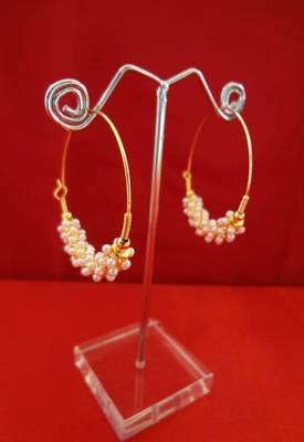 Chic Pearl Hoop Earrings