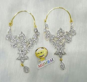 Beautiful FINE CZ BALI EARRING