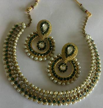 Designer Fancy Earings with Traditional Necklace