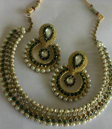 Buy Designer Fancy Earings with Traditional Necklace hoop online