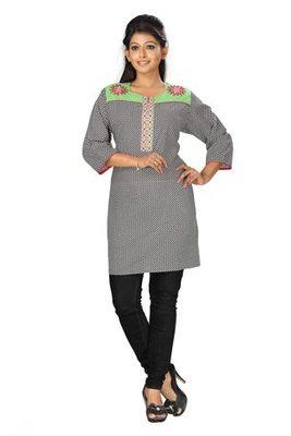 Triveni Smart Comfortable Round Neck Cotton Kurti 6355