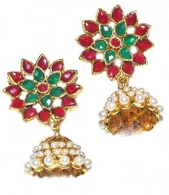 Multicolour Bollywood Ethnic Wedding Festival Jhumki Earrings